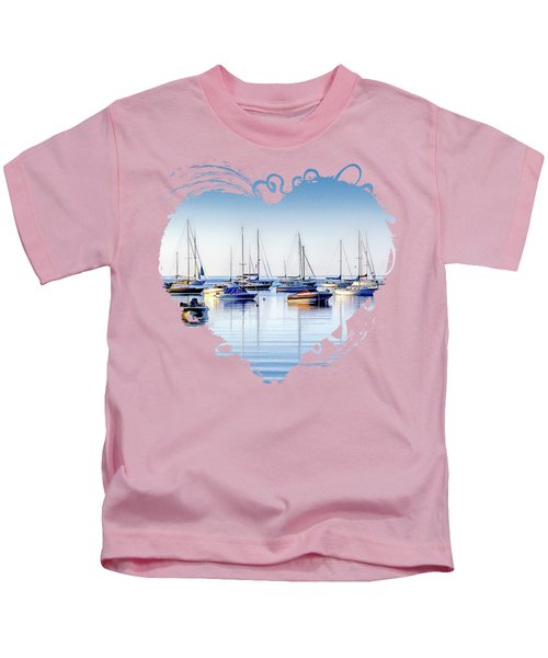 Boat Reflections Panorama Kids T-Shirt