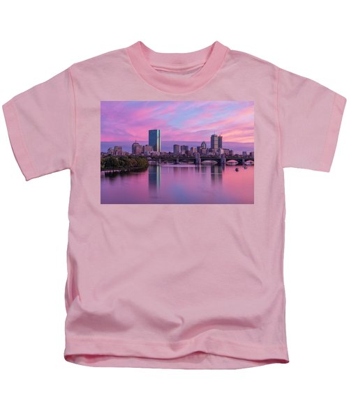 Boston Sunset Kids T-Shirt