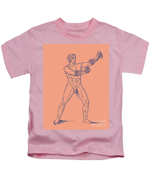 Boxer, Illustration For Olympia By Adolf Boetticher, 1886 Kids T-Shirt
