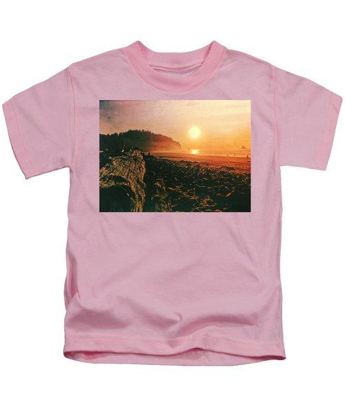 Cape Meares Beach Kids T-Shirt
