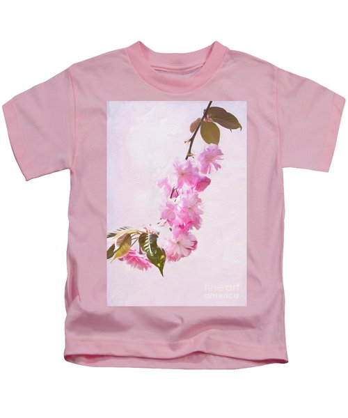Cascading Kwanzan Cherry Blossoms Kids T-Shirt