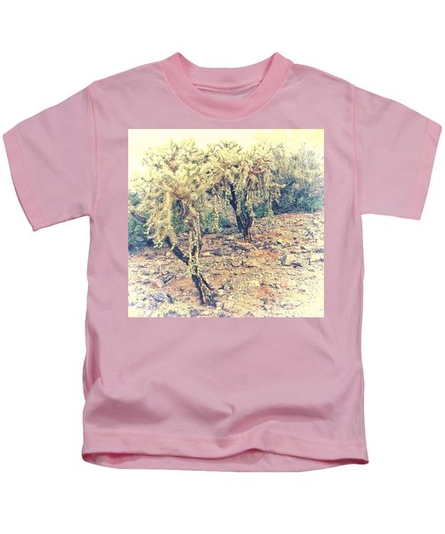 Kids T-Shirt featuring the photograph Chain Fruit Cholla by Judy Kennedy