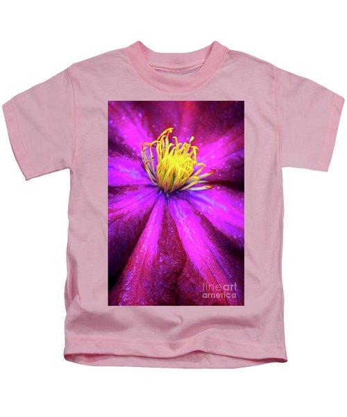 Clematis Flower Kids T-Shirt