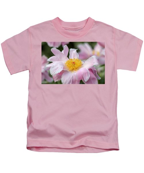 Delicate Pink Peony Kids T-Shirt