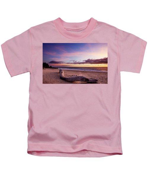 Driftwood At Sunset Kids T-Shirt