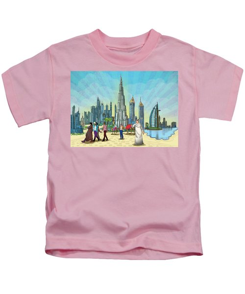 Dubai Illustration  Kids T-Shirt