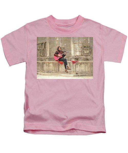 Dubrovnik Street Musician Kids T-Shirt