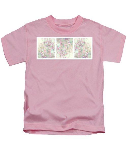 Sweet Cherry Triptych Kids T-Shirt