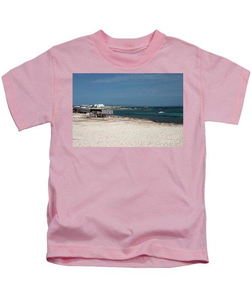 Es Pujols Beach On The Island Of Formentera Kids T-Shirt