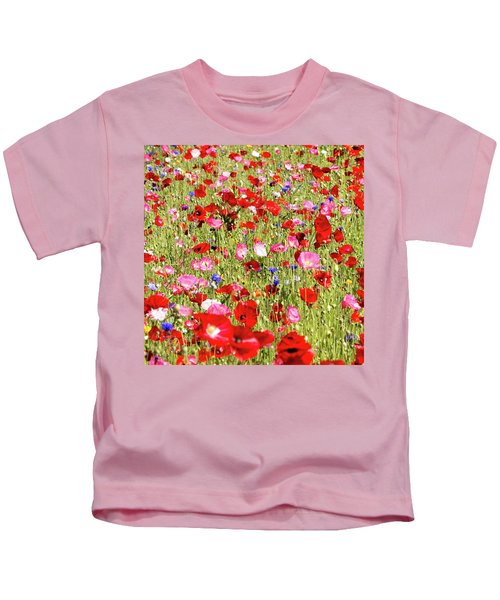 Field Of Red Poppies Kids T-Shirt