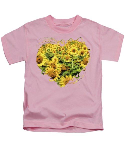 Field Of Sunflowers Kids T-Shirt