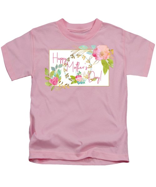 Floral Mother's Day Art Kids T-Shirt