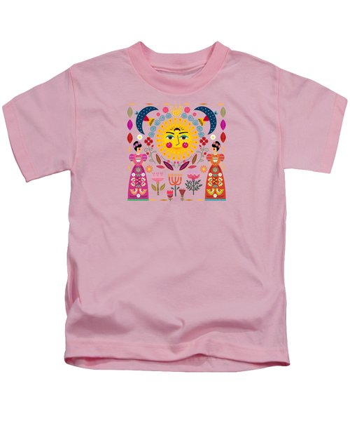 Folk Art Inspired By The Fabulous Frida Kids T-Shirt