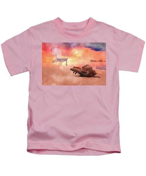 Friends By The Sea 3d Render Kids T-Shirt