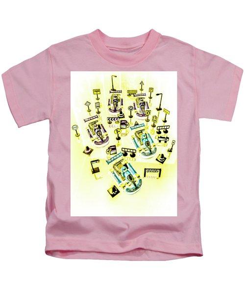 Go-kart Art Kids T-Shirt
