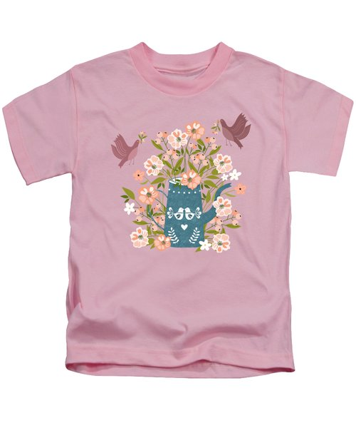 Happy Birds Making Things Beautiful Together Kids T-Shirt