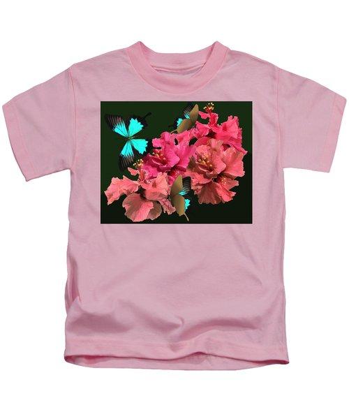 Hibiscus Butterfly Joy Kids T-Shirt