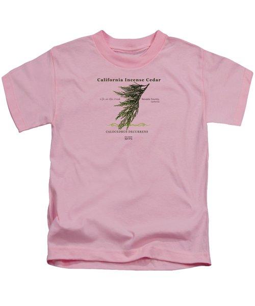 Incense Cedar - Brpwn Text Kids T-Shirt