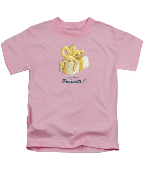 Joy, Peace And Presents Kids T-Shirt