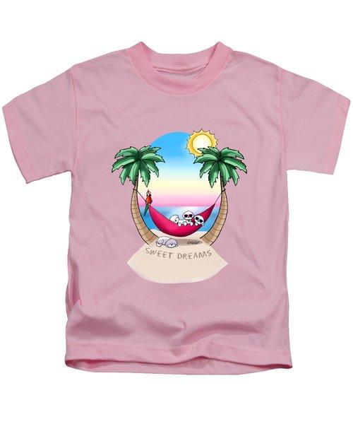 Kiniart Tropical Bichon Frise Kids T-Shirt
