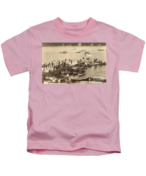 Lake Hopatcong Yacht Club Dock - 1910 Kids T-Shirt