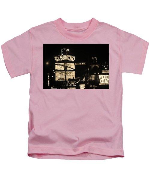 Las Vegas 1984 Sepia #13 Kids T-Shirt