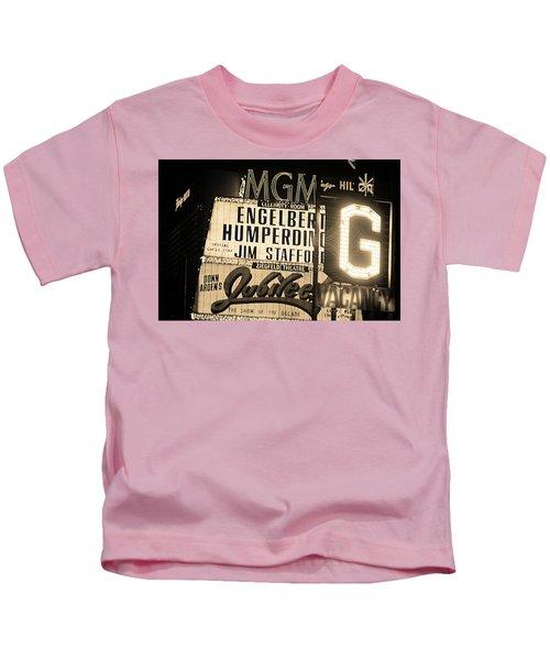 Las Vegas 1984 Sepia #3 Kids T-Shirt