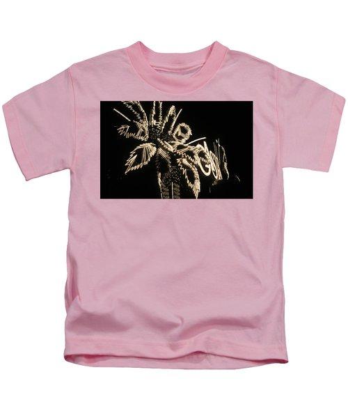 Las Vegas 1984 Sepia #9 Kids T-Shirt