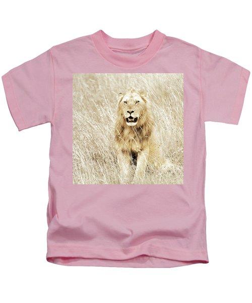 Lion In Kenya Kids T-Shirt