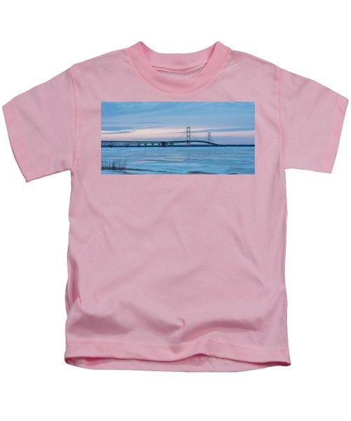 Mackinac Bridge In Ice 2161803 Kids T-Shirt