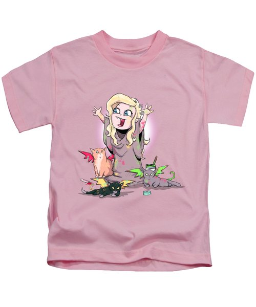 Mother Of Kittens Kids T-Shirt