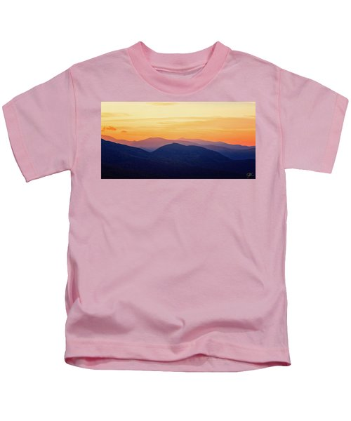 Mountain Light And Silhouette  Kids T-Shirt