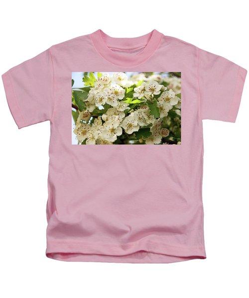Neston.  Hawthorn Blossom. Kids T-Shirt