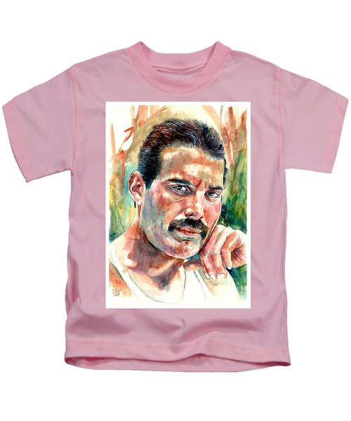 No One But You - Freddie Mercury Portrait Kids T-Shirt