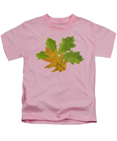 Oak Leaves Pattern Kids T-Shirt
