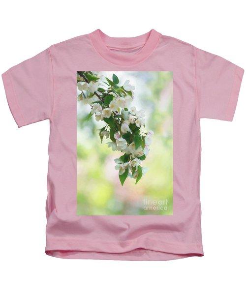 Painted Crabapple Blossom Cascade Kids T-Shirt
