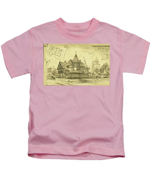Pair Of Twin Cottages, Hastings Square, Spring Lake, Nj Kids T-Shirt