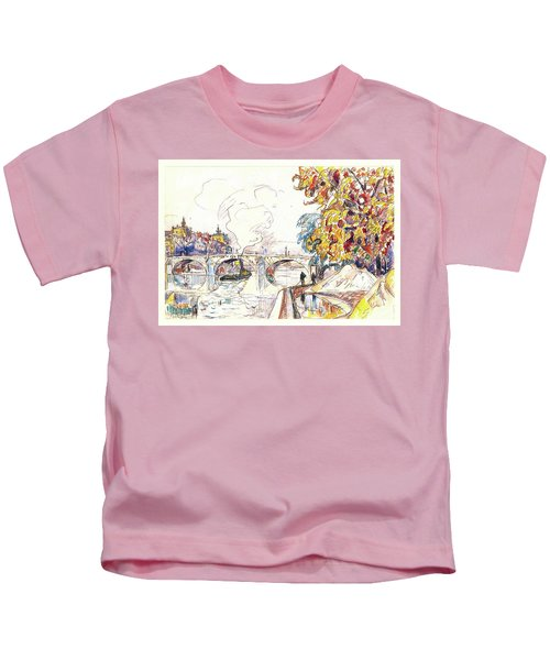 Paris, Pont Royal And The Gare D'orsay - Digital Remastered Edition Kids T-Shirt