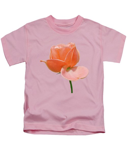 Peach Rose  Kids T-Shirt