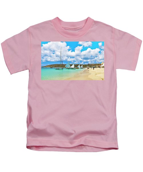 Picture Perfect Day For Sailing In Anguilla Kids T-Shirt