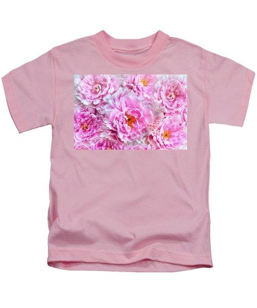 Pink Flowers Everywhere Kids T-Shirt