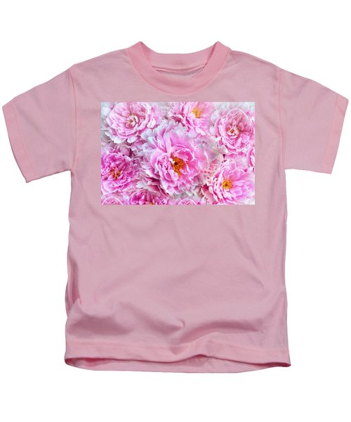 Pink Flowers Everywhere Kids T-Shirt