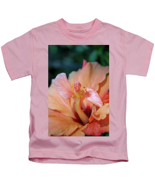Pink Hibiscus Flower Kids T-Shirt