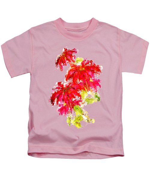 Poinsettia Kids T-Shirt