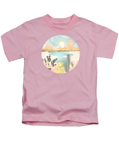 Retro Desert Oasis Kids T-Shirt