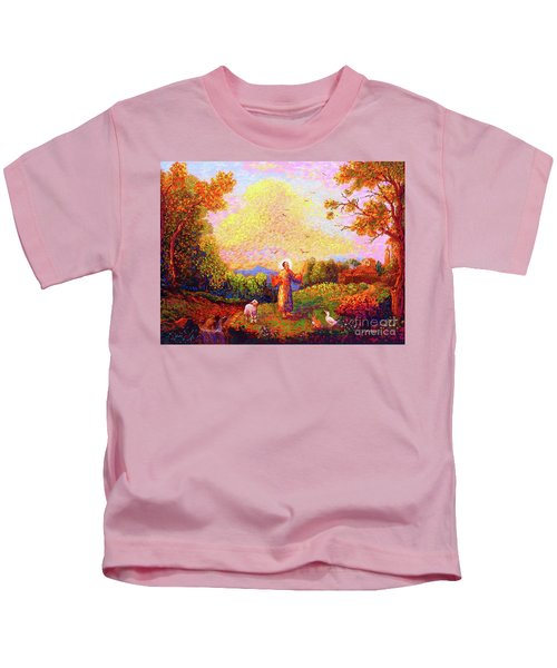 Saint Francis Of Assisi Kids T-Shirt