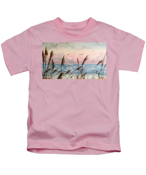 Sea Oats And Seagulls  Kids T-Shirt