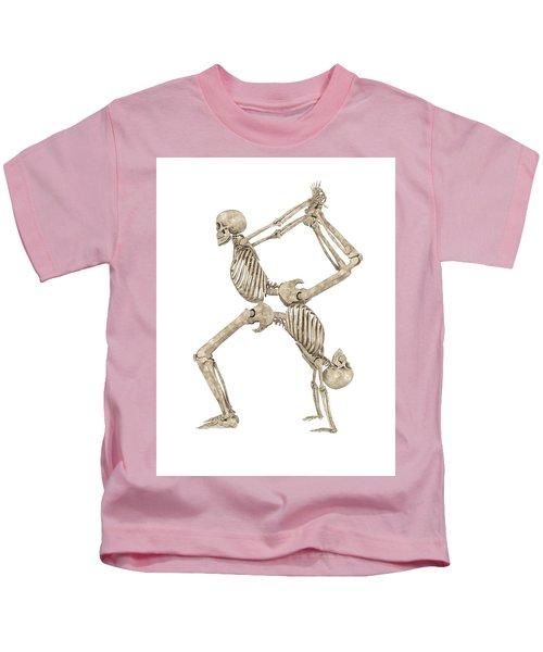 Skeleton Yoga 003 Kids T-Shirt