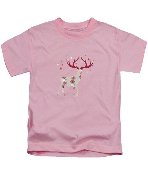 Snowflake Christmas Stag I Kids T-Shirt