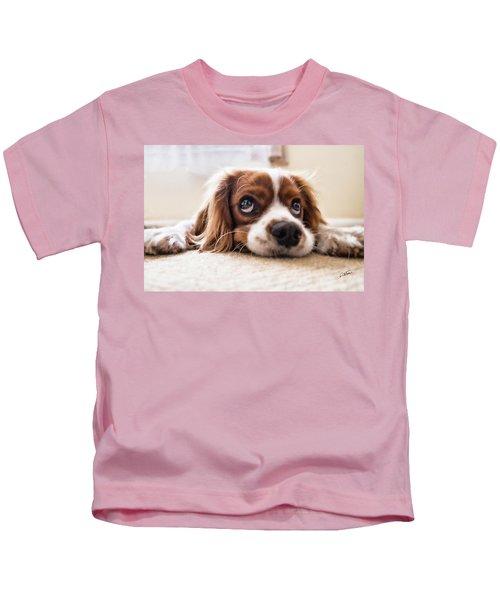 Spaniel Puppy Dwp2785074 Kids T-Shirt